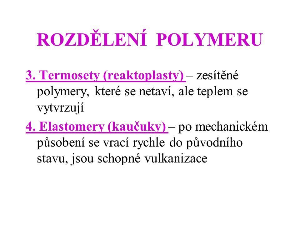 ROZDĚLENÍ POLYMERU