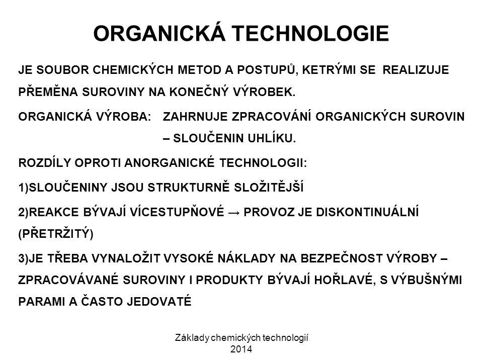ORGANICKÁ TECHNOLOGIE