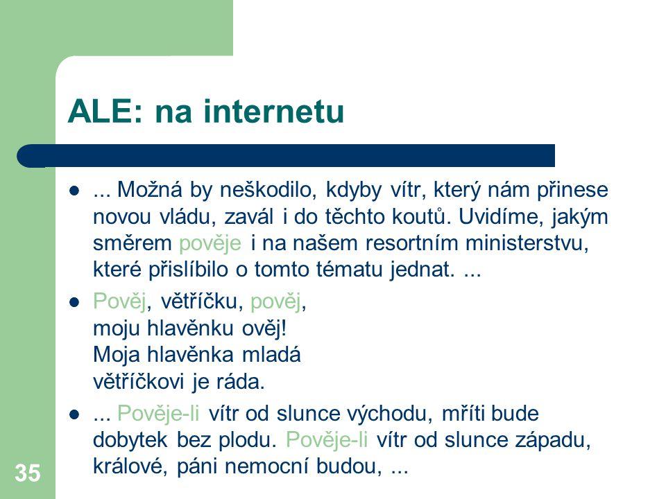 ALE: na internetu