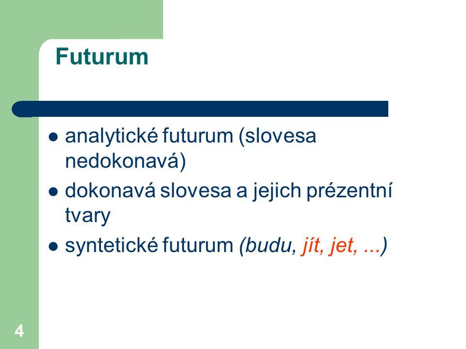 Futurum analytické futurum (slovesa nedokonavá)