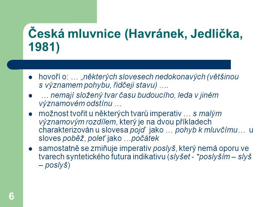 Česká mluvnice (Havránek, Jedlička, 1981)
