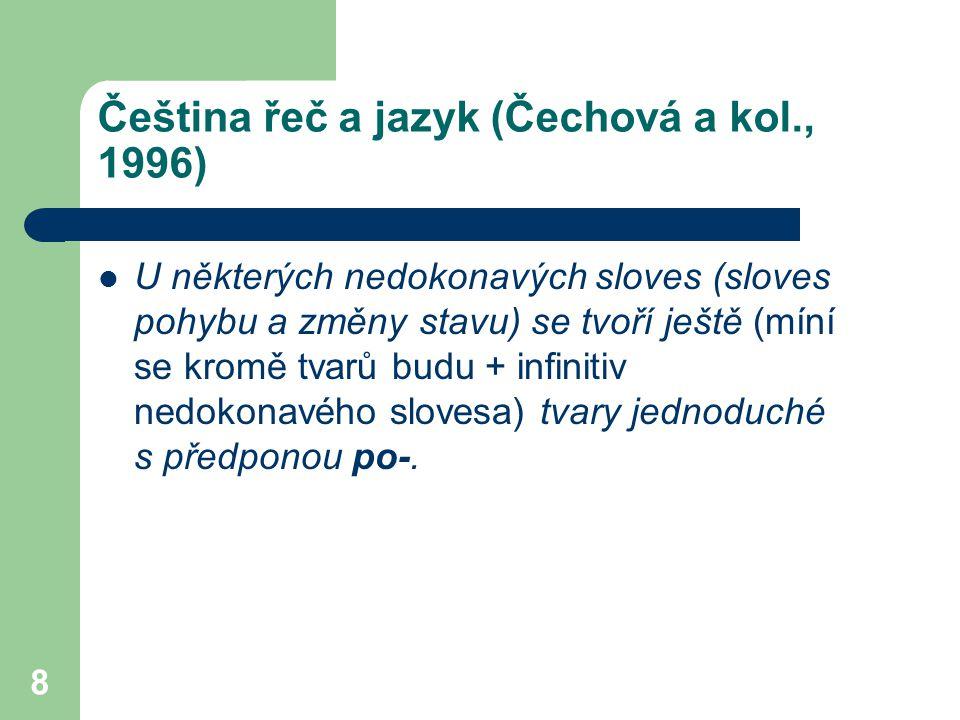 Čeština řeč a jazyk (Čechová a kol., 1996)