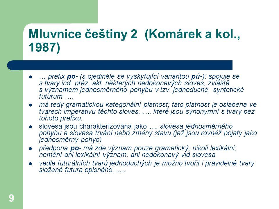 Mluvnice češtiny 2 (Komárek a kol., 1987)