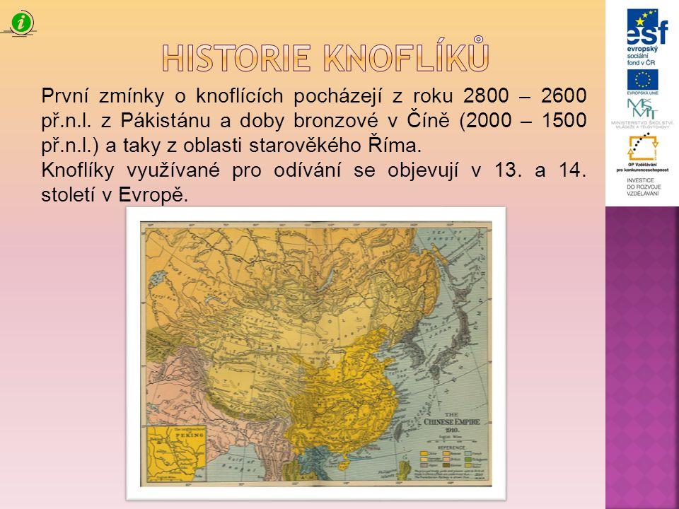 Historie knoflíků