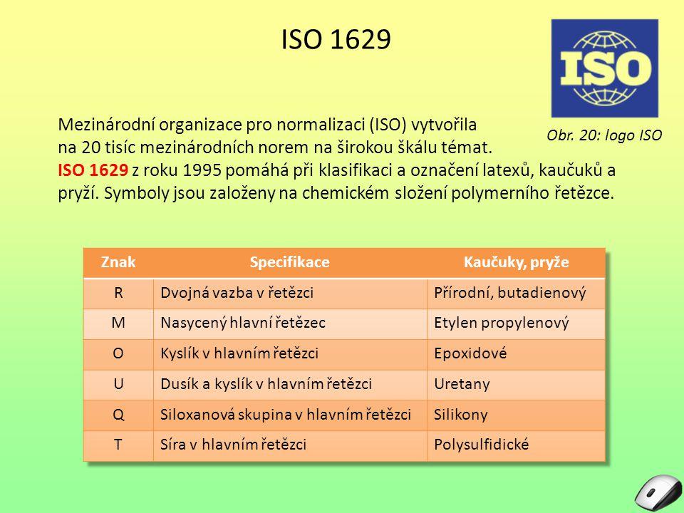 ISO 1629 Mezinárodní organizace pro normalizaci (ISO) vytvořila