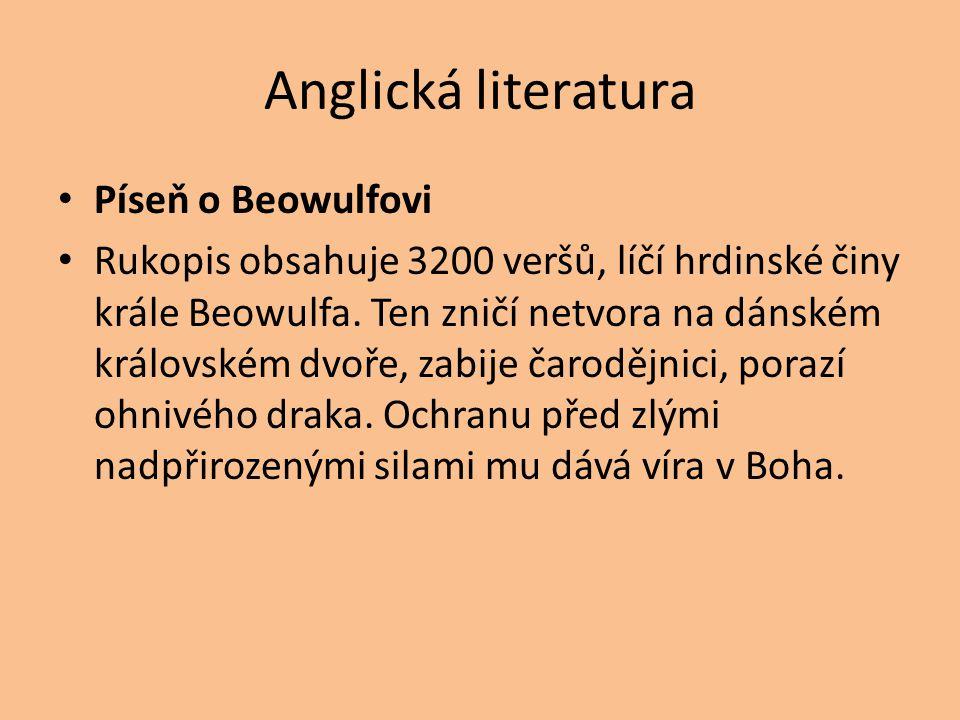 Anglická literatura Píseň o Beowulfovi