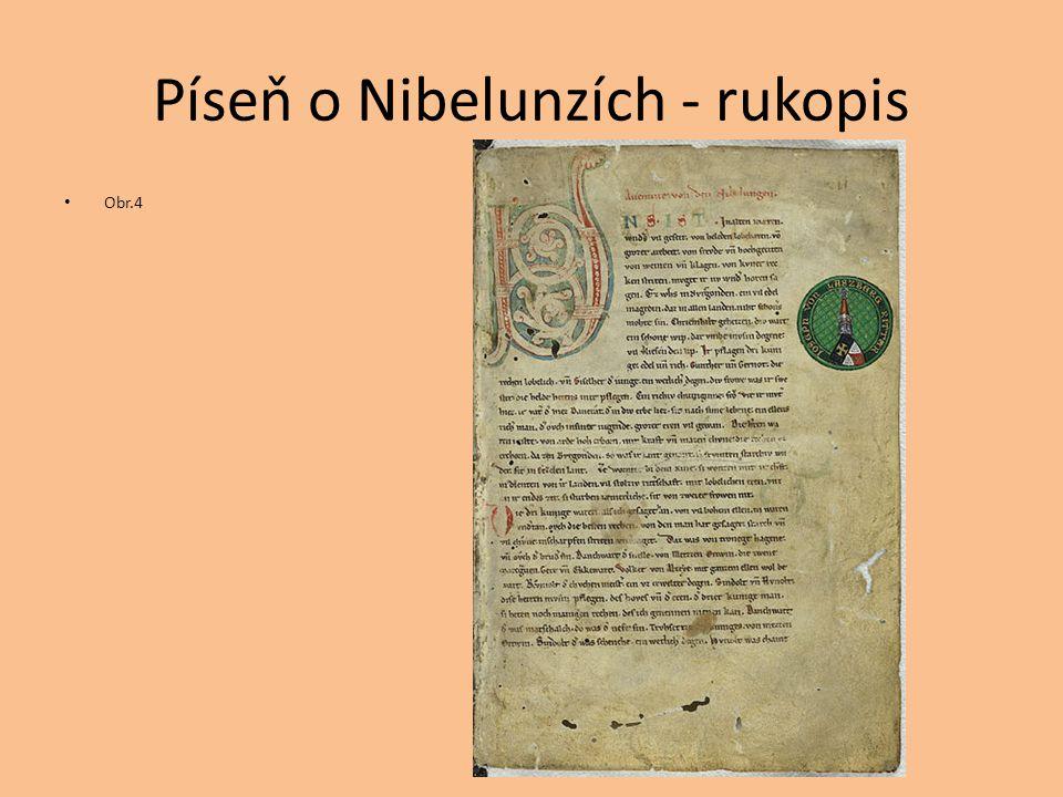 Píseň o Nibelunzích - rukopis
