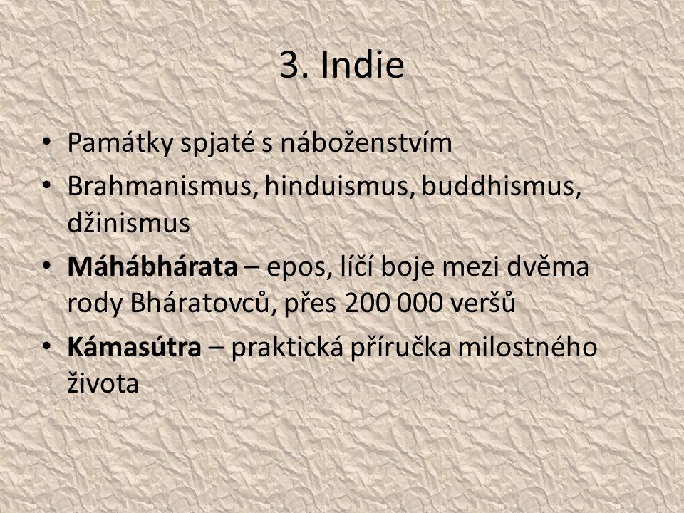 3. Indie Památky spjaté s náboženstvím