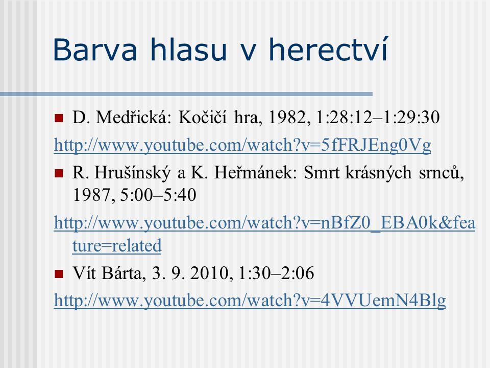 Barva hlasu v herectví D. Medřická: Kočičí hra, 1982, 1:28:12–1:29:30