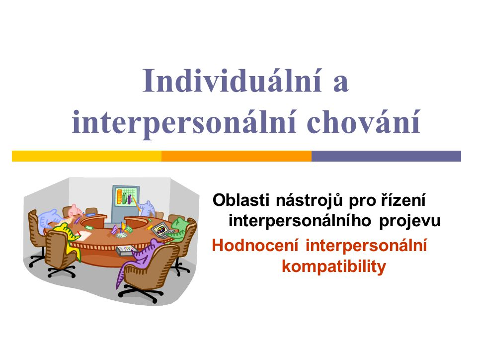 Individuální a interpersonální chování