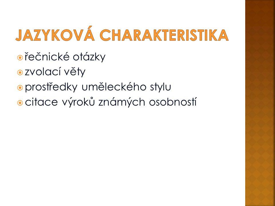Jazyková charakteristika