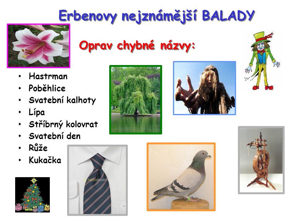 Erbenovy nejznámější BALADY