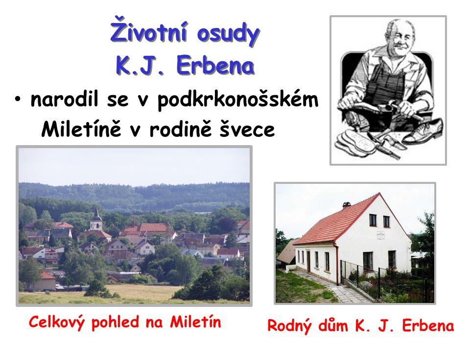 Životní osudy K.J. Erbena