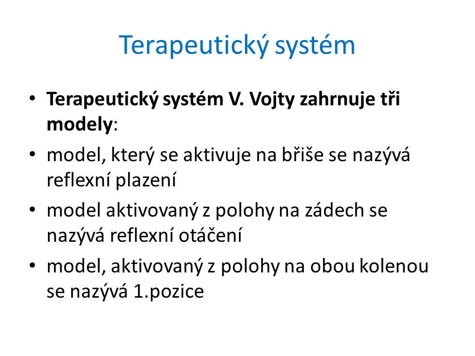 Terapeutický systém Terapeutický systém V. Vojty zahrnuje tři modely: