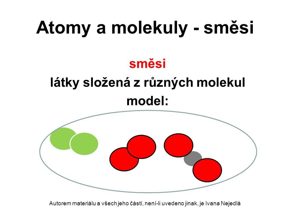 Atomy a molekuly - směsi