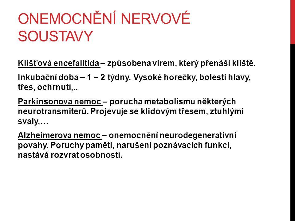 Onemocnění nervové soustavy