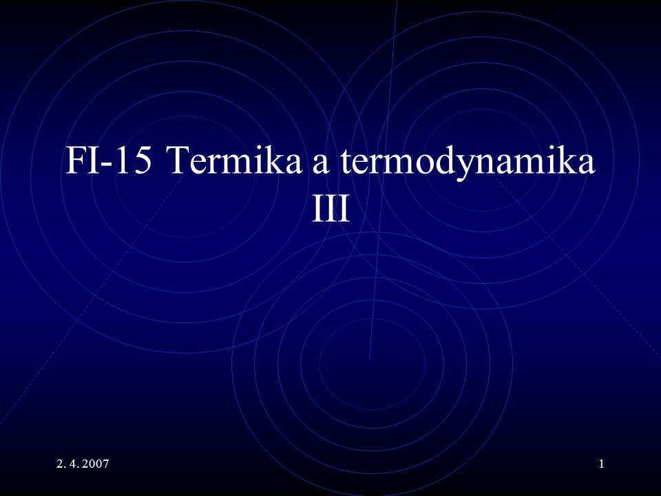 FI-15 Termika a termodynamika III