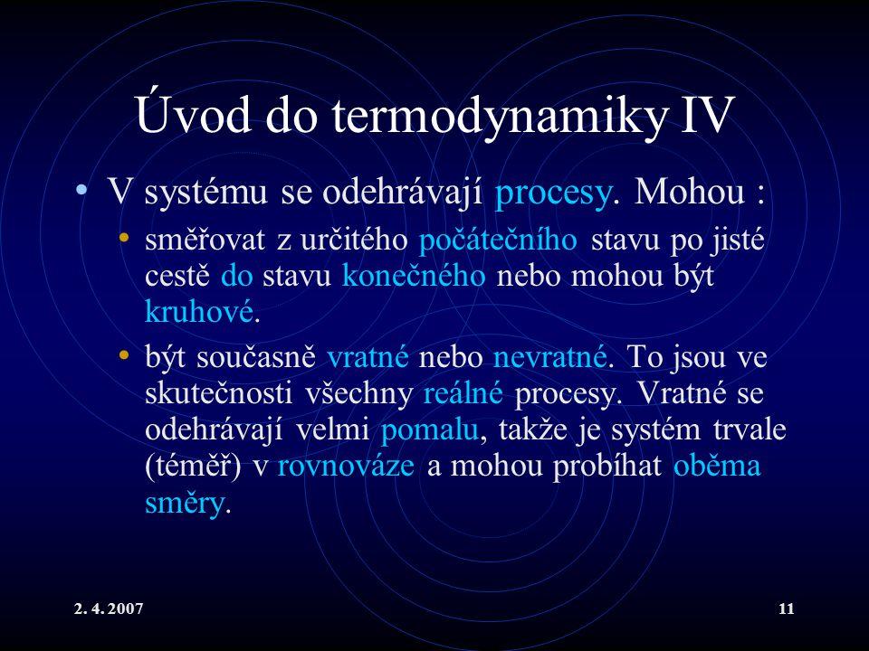 Úvod do termodynamiky IV