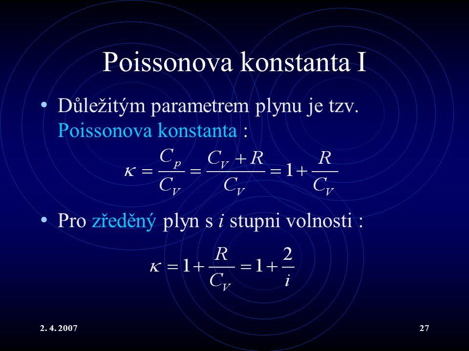 Poissonova konstanta I