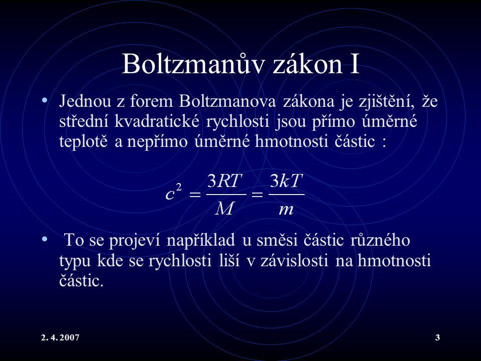Boltzmanův zákon I