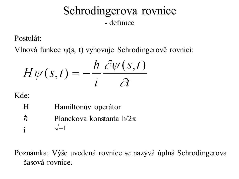 Schrodingerova rovnice - definice