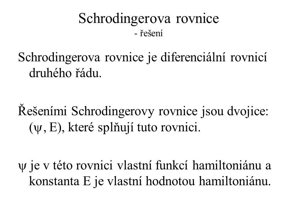 Schrodingerova rovnice - řešení