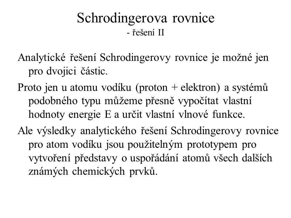 Schrodingerova rovnice - řešení II