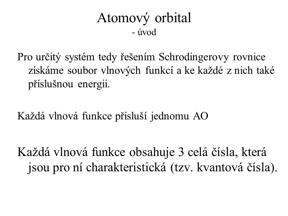 Atomový orbital - úvod