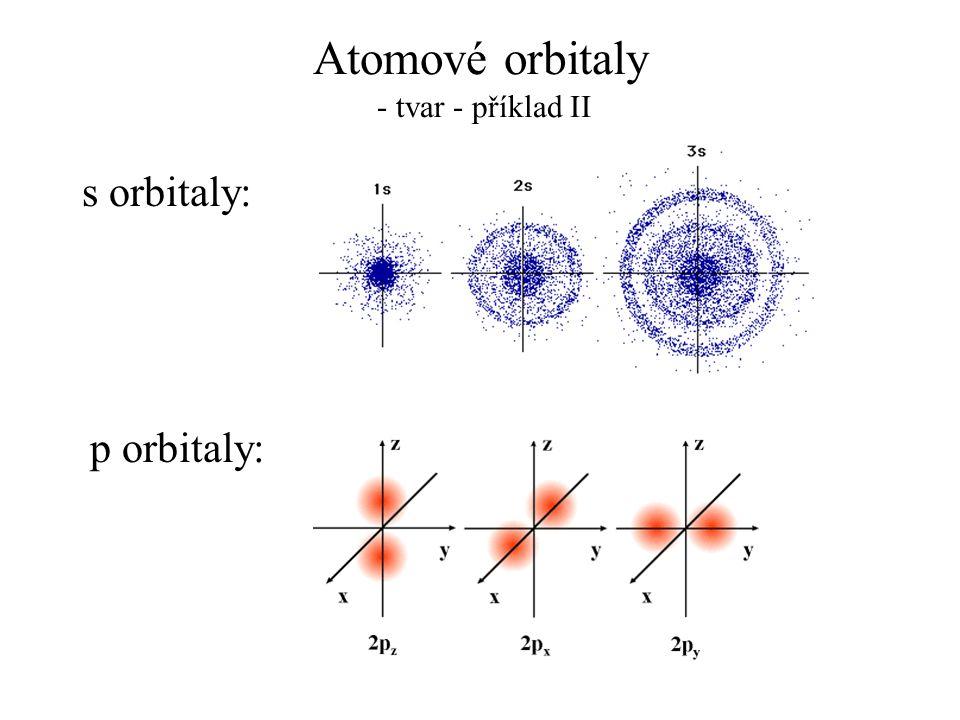 Atomové orbitaly - tvar - příklad II