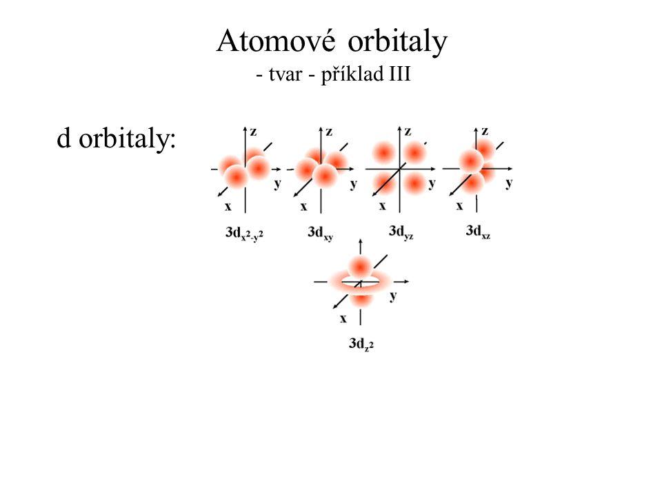 Atomové orbitaly - tvar - příklad III