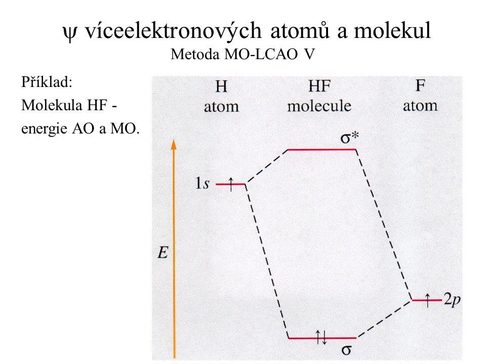y víceelektronových atomů a molekul Metoda MO-LCAO V