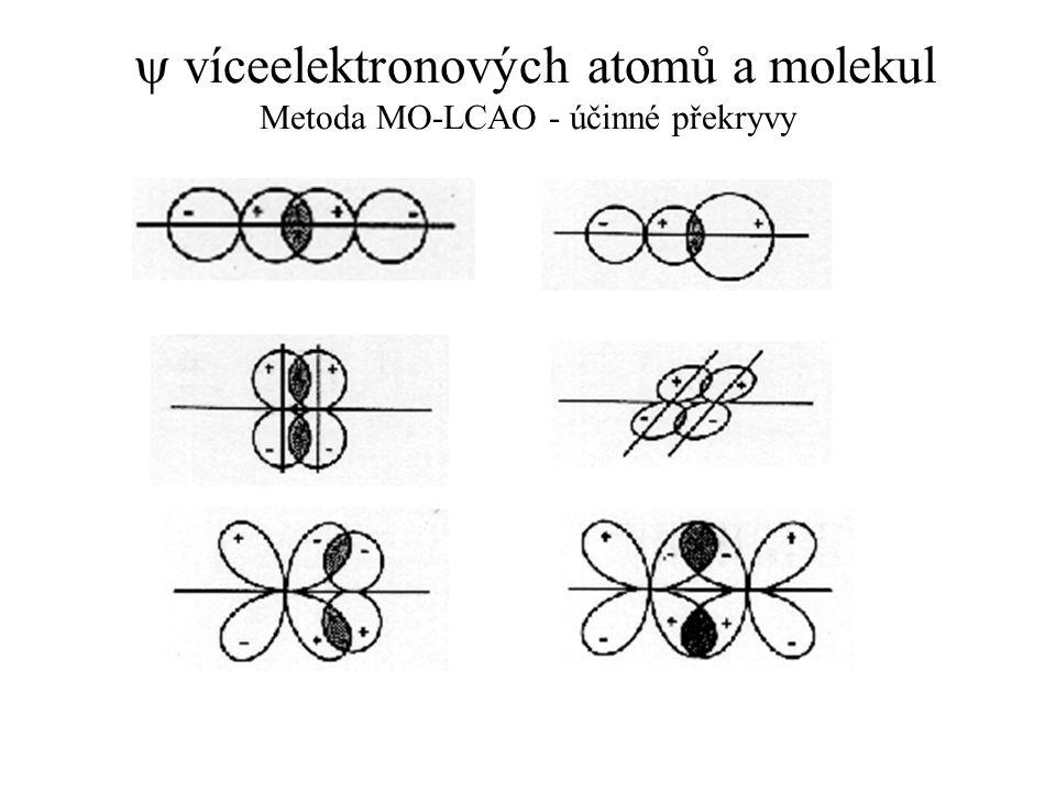 y víceelektronových atomů a molekul Metoda MO-LCAO - účinné překryvy