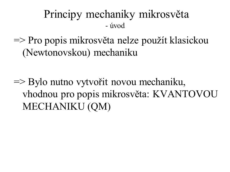 Principy mechaniky mikrosvěta - úvod