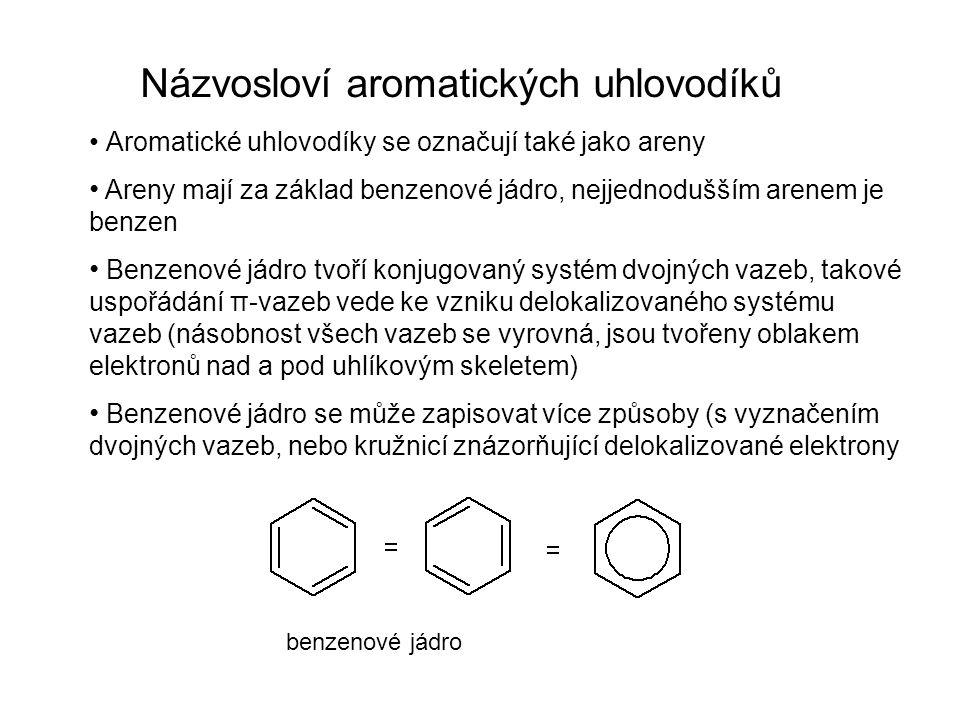 Názvosloví aromatických uhlovodíků