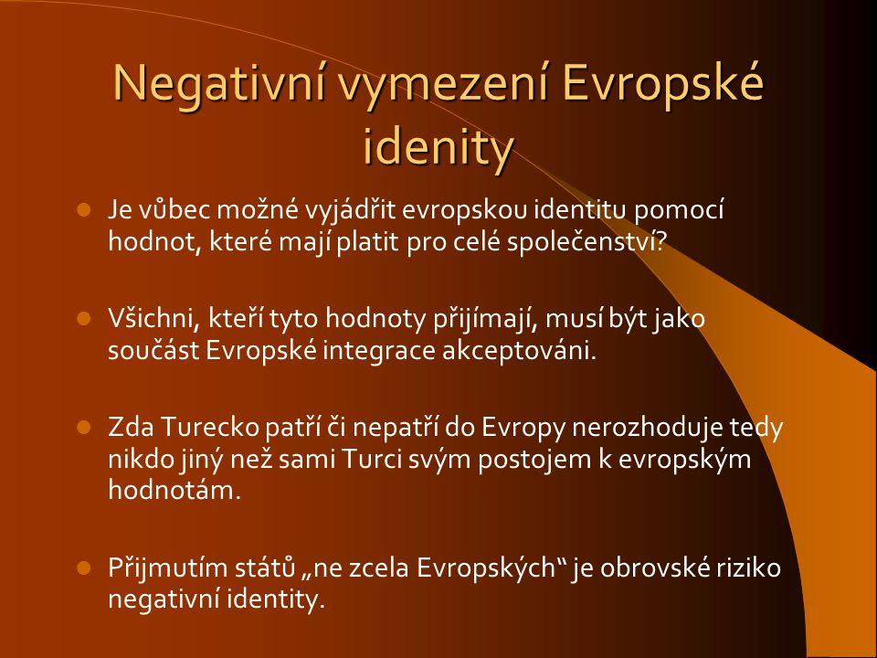Negativní vymezení Evropské idenity