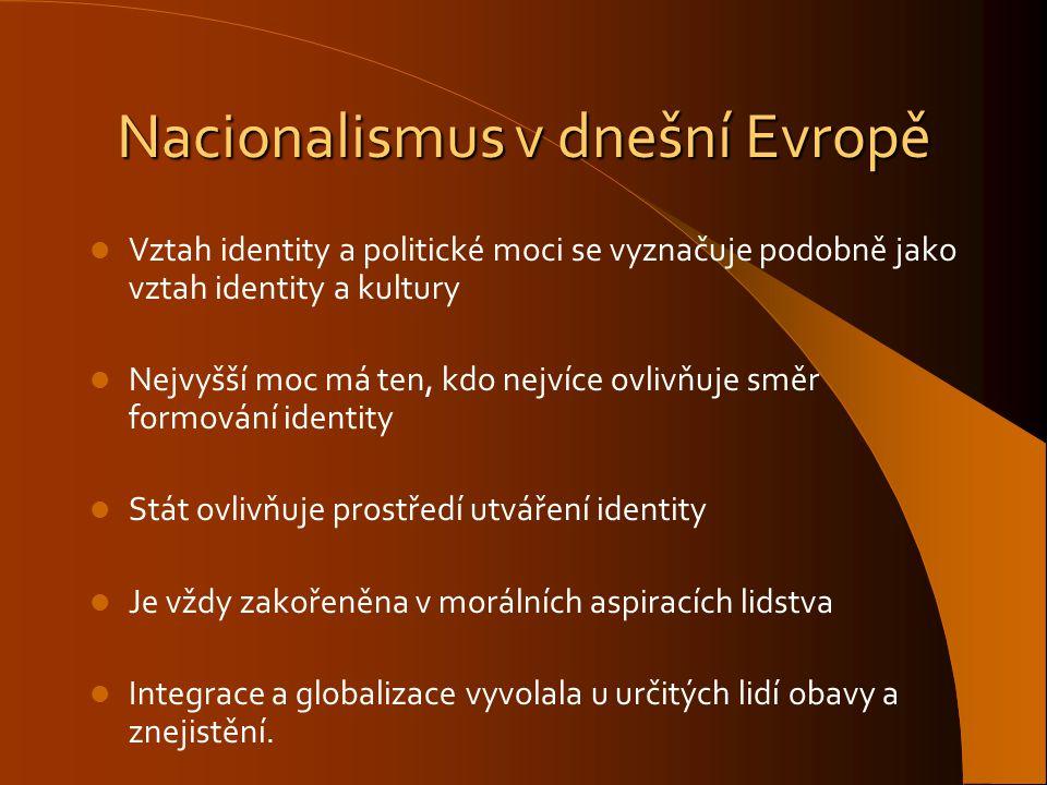 Nacionalismus v dnešní Evropě