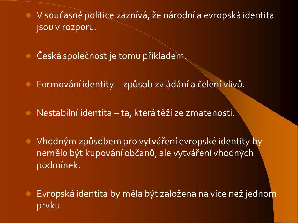V současné politice zaznívá, že národní a evropská identita jsou v rozporu.