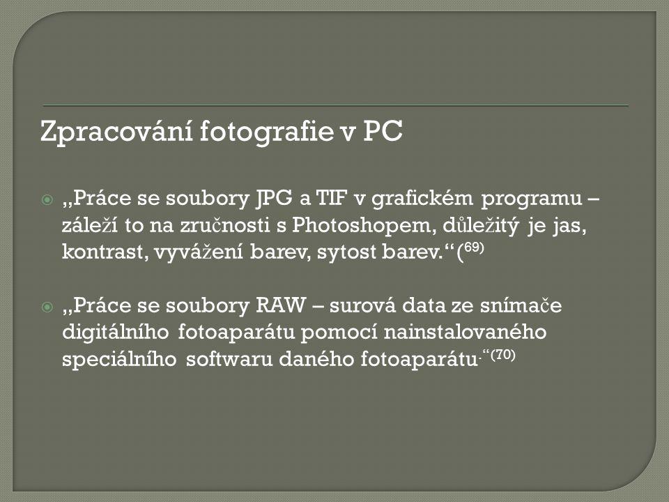 Zpracování fotografie v PC