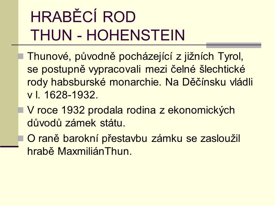 HRABĚCÍ ROD THUN - HOHENSTEIN
