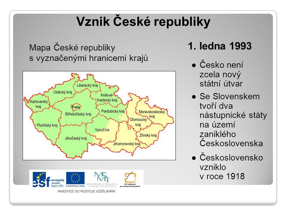 Vznik České republiky 1. ledna 1993