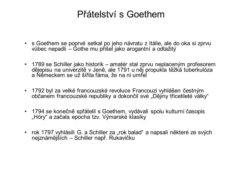 Přátelství s Goethem