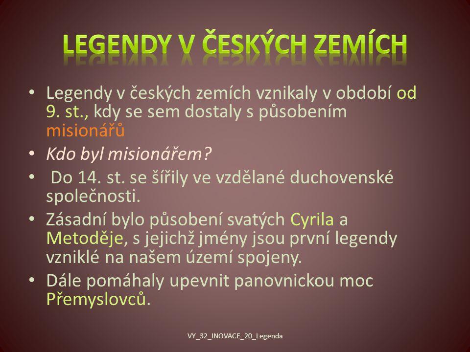 Legendy v českých zemích