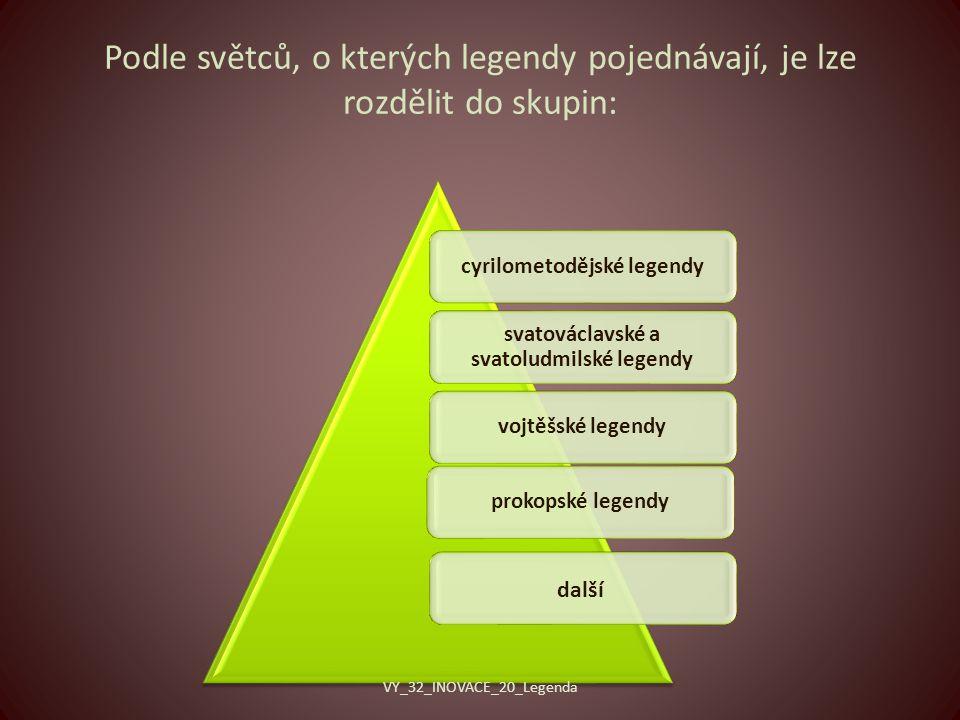 cyrilometodějské legendy svatováclavské a svatoludmilské legendy