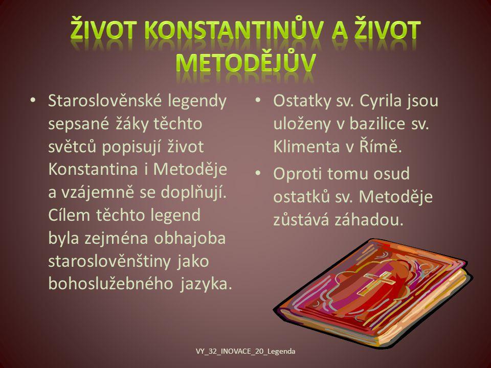 Život Konstantinův a Život Metodějův