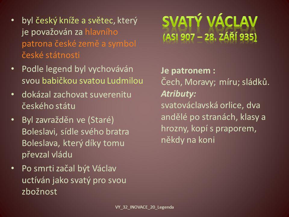 Svatý Václav (asi 907 – 28. září 935)