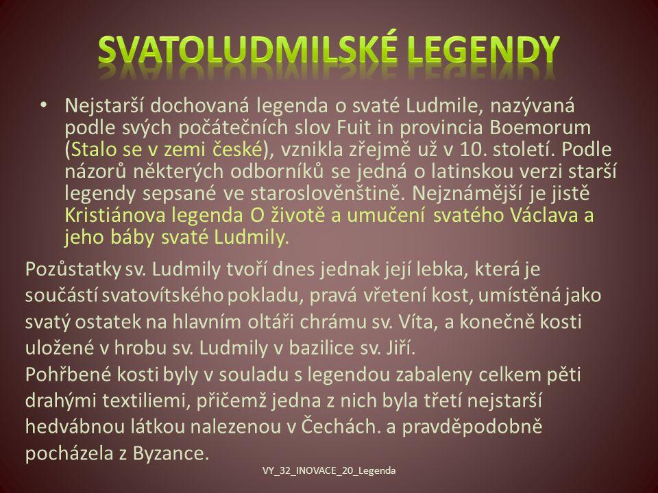 Svatoludmilské legendy