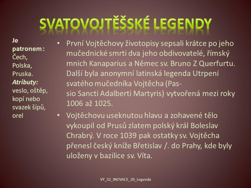 Svatovojtěšské legendy