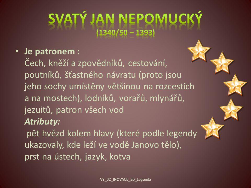 Svatý Jan Nepomucký (1340/50 – 1393)