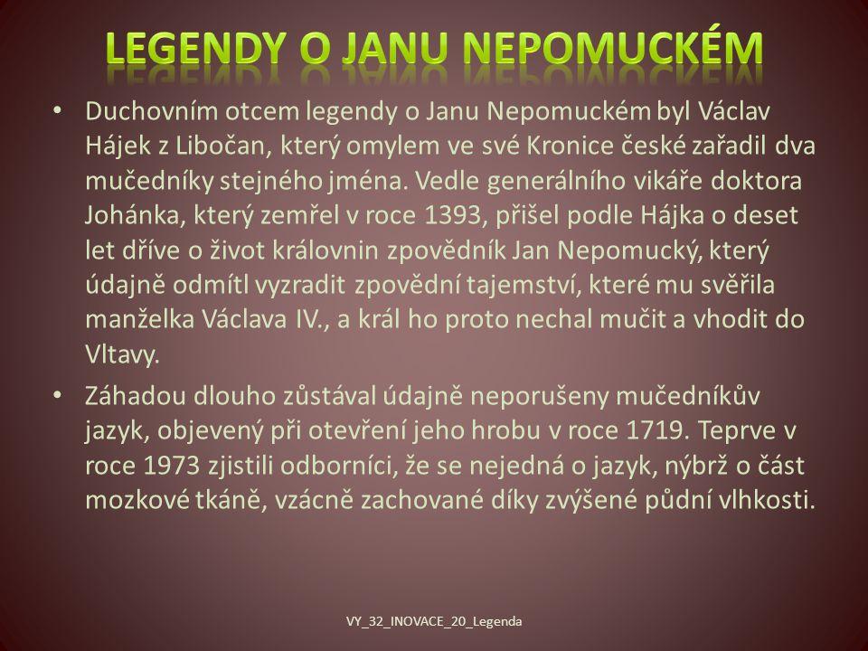 Legendy o Janu Nepomuckém