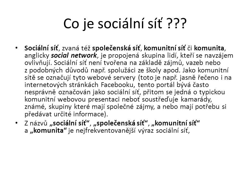 Co je sociální síť
